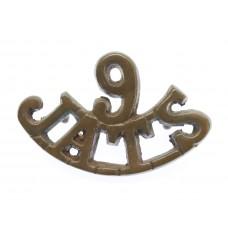 Indian Army 9th Jat Regiment (9/JATS) Shoulder Title