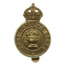 Army Catering Corps Brass Cap Badge - King's Crown