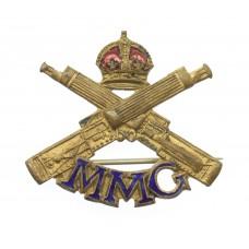 WW1 Motor Machine Gun Corps (M.M.G.) Enamelled Sweetheart Brooch