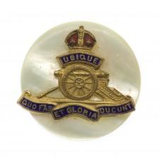 Royal Artillery Sweetheart Brooch - King's Crown