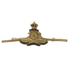Royal Artillery Brass and Enamel Sweetheart Brooch/Tie Pin - King's Crown