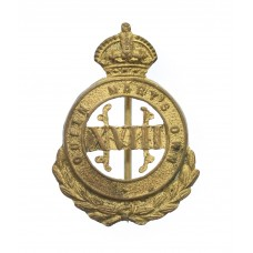 18th Hussars (Queen Mary's Own) Sweetheart Brooch