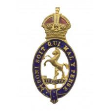 Royal East Kent Yeomanry Enamelled Sweetheart Brooch