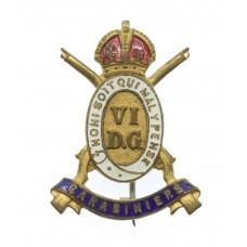 6th Dragoon Guards (Carabiniers) Enamelled Sweetheart Brooch