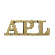 Aden Protectorate Levies (A.P.L.) Shoulder Title