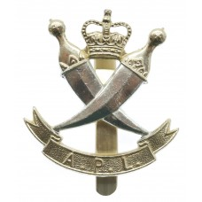 Aden Protectorate Levies Anodised (Staybrite) Cap Badge - Queen's