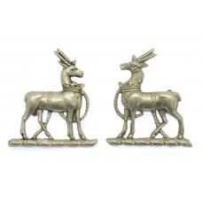 Pair of Royal Warwickshire Regiment Collar Badges