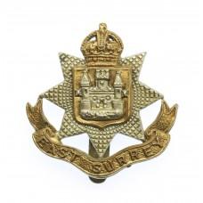 East Surrey Regiment Beret Badge - King's Crown