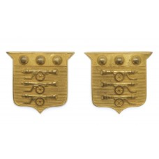 Pair of Army Ordnance Corps Officer's Gilt Collar Badges