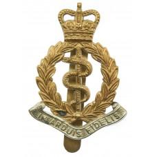 Royal Army Medical Corps (R.A.M.C.) Bi-Metal Cap Badge - Queen's Crown