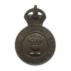 Army Catering Corps Officer's Service Dress Cap Badge - King's Cr