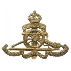 Royal Artillery Cap Badge - King's Crown