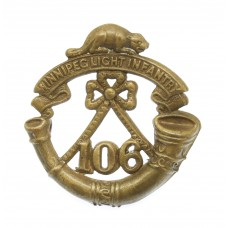 Canadian 106th Winnipeg Light Infantry Collar Badge