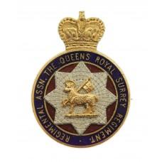 The Queen's Royal Surrey Regiment Association Enamelled Lapel Badge