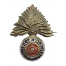 Royal Fusiliers Enamelled Sweetheart Brooch - King's Crown