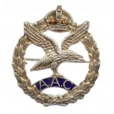 WW2 Army Air Corps Sterling Silver & Enamel Sweetheart Brooch