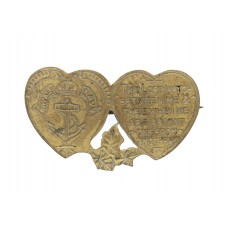 Royal Navy Mizpah Hearts Sweetheart Brooch