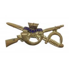 Duke of Cornwall's Light Infantry Cross Sword & Rifle Sweetheart Brooch