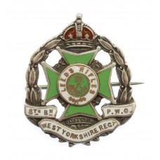8th Bn. (Leeds Rifles) P.W.O. West Yorkshire Regiment Hallmarked Silver Sweetheart Brooch