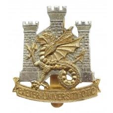 Exeter University O.T.C. Anodised (Staybrite) Cap Badge