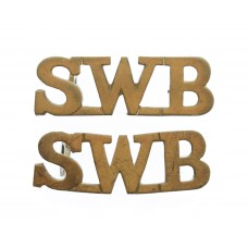 Pair of South Wales Borderers (S.W.B.) Shoulder Titles