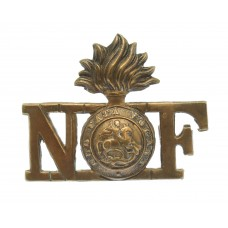Northumberland Fusiliers Brass Shoulder Title