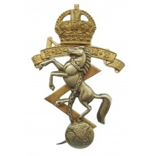 Royal Electrical & Mechanical Engineers (R.E.M.E.) Officer's Dress Cap Badge - King's Crown (2nd Pattern)