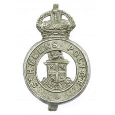 St. Helen's Police Cap Badge - King's Crown