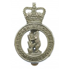 Warwickshire & Coventry Constabulary Cap Badge - Queen's Crown