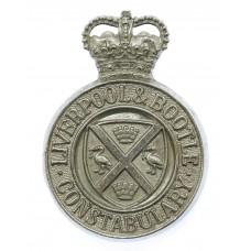 Liverpool & Bottle Constabulary Cap Badge - Queen's Crown