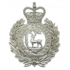 Berkshire Constabulary Wreath Helmet Plate - Queen's Crown