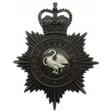 Buckinghamshire Constabulary Night Helmet Plate - Queen's Crown