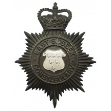 East Sussex Constabulary Night Helmet Plate - Queen's Crown