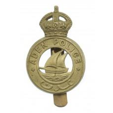 Aden Police Cap Badge - King's Crown