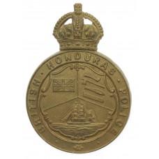 British Honduras Police Helmet Plate - King's Crown