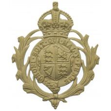 British Colonial Police Helmet Plate - King's Crown