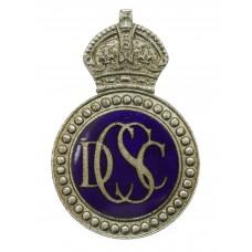 Derbyshire Constabulary Special Constable Enamelled Cap Badge - King's Crown