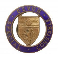 Devon Special Constabulary Enamelled Lapel Badge
