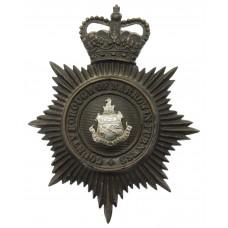 County Borough of Barrow -in- Furness Police Night Helmet Plate -