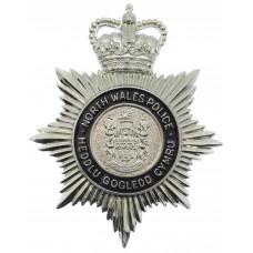 North Wales Police Heddlu Gogledd Cymru Enamelled Helmet Plate - Queen's Crown