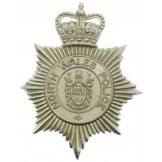 North Wales Police Helmet Plate - Queen's Crown