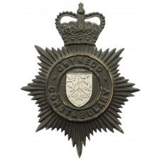 Gwynedd Constabulary Night Helmet Plate - Queen's Crown