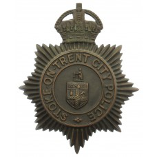 Stoke -on- Trent City Police Night Helmet Plate - King's Crown