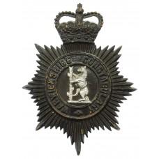 Warwickshire Constabulary Night Helmet Plate - Queen's Crown