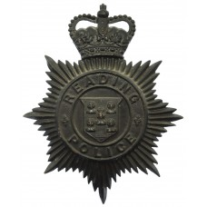 Reading Borough Police Night Helmet Plate - Queen's Crown