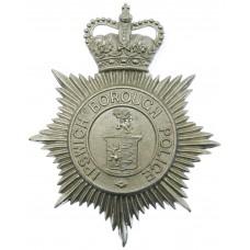 Ipswich Borough Police Helmet Plate - Queen's Crown