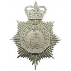 Burnley Borough Police Helmet Plate - Queen's Crown