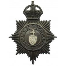 Burnley Borough Police Night Helmet Plate - King's Crown
