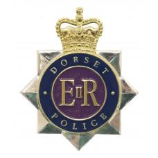 Dorset Police Enamelled Cap Badge - Queen's Crown