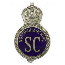 Nottinghamshire Special Constabulary Enamelled Cap Badge - King's Crown